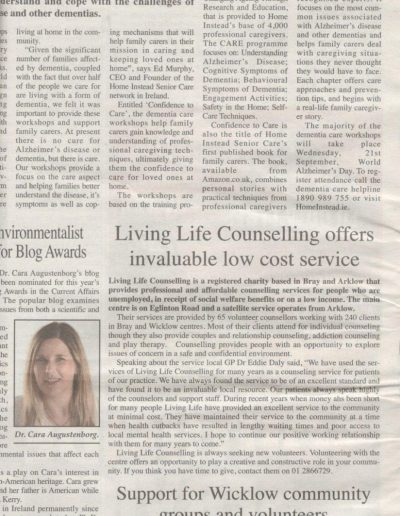 Wicklow Times 13.9.16 LL Counselling